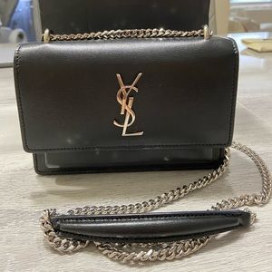 YSL Sunset Monogram Small Calf Leather